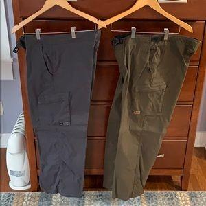 Two pairs of Prana climbing pants